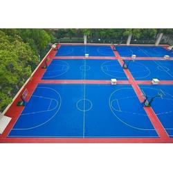 篮球场 金成体育/防裂 篮球场塑胶场地图片