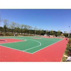 铺设一个硅PU篮球场造价、金成体育、汉寿县硅PU篮球场图片