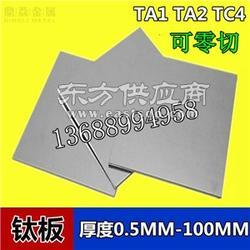 钛合金材料TC4高强度钛合金板图片