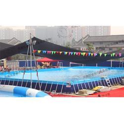 四川支架游泳池_河南沃金_组装游泳池图片