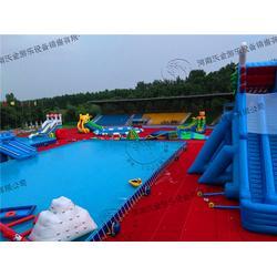 天津支架水池,河南沃金,亲子支架水池图片