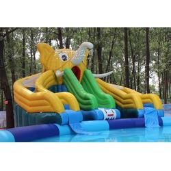 大型户外儿童水上乐园充气组合滑梯水上玩具图片