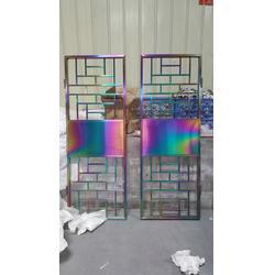 不锈钢屏风、个性定制不锈钢屏风、拉丝彩色不锈钢屏风图片