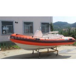 杰世游艇4米5米7米玻璃钢橡皮艇充气船图片