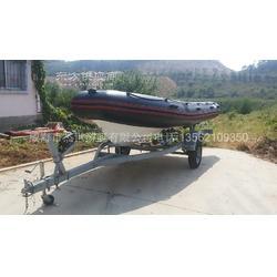杰世游艇5.2米玻璃钢橡皮艇钓鱼船A型船图片