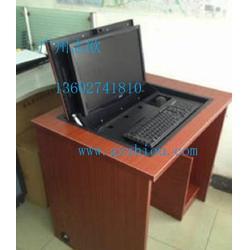 翻转式电脑桌-桌面隐藏翻转式电脑桌-志欧(优质商家)图片