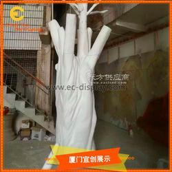 商场DP布置道具玻璃钢树木摆件图片