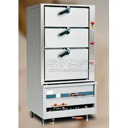 佳顺厨具加工厂定制加工生产厨具燃气型不锈钢三门海鲜蒸柜、蒸柜图片