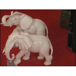 石雕大象厂家(图),吉祥招财汉白玉石雕象,河南汉白玉石雕象图片