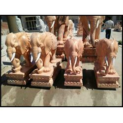瑞兽石雕大象生产_内蒙古瑞兽石雕大象_旺通雕塑图片