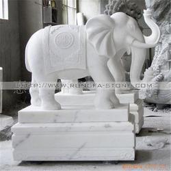 陕西石雕汉白玉大象|旺通雕塑|石雕汉白玉大象生产厂图片