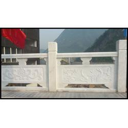 汉白玉石栏杆厂家、旺通雕塑、贵州汉白玉石栏杆图片