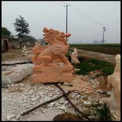 晚霞红石麒麟哪家好-旺通雕塑(在线咨询)北京晚霞红石麒麟图片