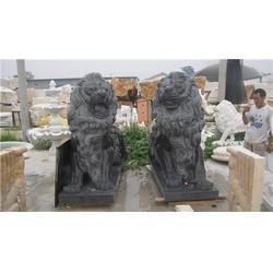 辽宁别墅景观汉白玉石狮子_服务为先_曲阳旺通雕塑(图)图片