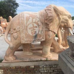 酒店大理石石大象供应厂家_旺通雕塑_上海酒店大理石石大象图片