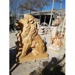 石狮子雕刻、旺通雕塑厂家、酒店石狮子雕刻厂家图片