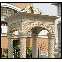 陕西大理石长廊凉亭,旺通雕塑图片