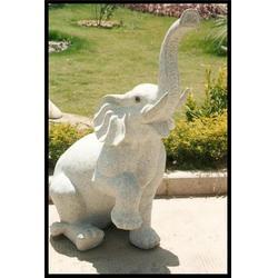 园林装饰石雕大象|海南石雕大象|石雕大象图片