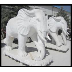 旺通雕塑-天津大理石大象-大理石大象加工制作图片