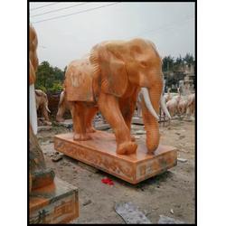 晚霞红石雕大象|湖南石雕大象|大象雕塑(多图)图片