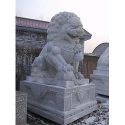 旺通雕塑,新疆镇宅石狮子,镇宅石狮子雕刻厂图片