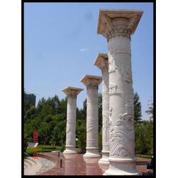 广西石雕文化柱-石雕华表龙柱-石雕文化柱雕塑图片