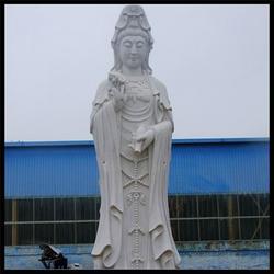 菩萨像(查看)、河南汉白玉莲花石雕观音图片