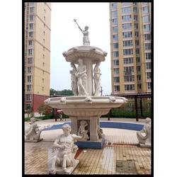 上海欧式石雕喷泉,黄锈石石雕壁泉,小区欧式石雕喷泉图片