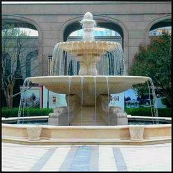 天津水钵喷泉-风水球水钵喷泉-公园摆放石雕水钵喷泉图片