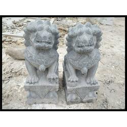 广东石雕小狮子、石狮子厂家(在线咨询)、汉白玉石雕小狮子摆件图片