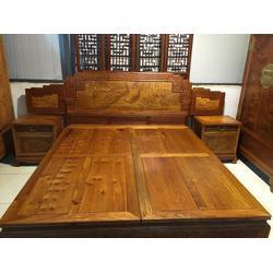红木大床工厂,北京家家红,大床图片