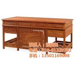北京家家红(图)、大红酸枝书桌、红木书桌图片