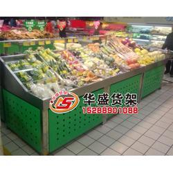 便利店生鲜货架、淄博生鲜货架、华盛货架图片