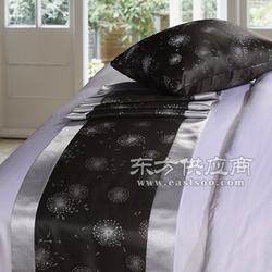 供应酒店布草厂家 宾馆酒店床上用品 床尾垫图片