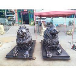 大型铜狮子-鑫鹏铜雕(在线咨询)-厦门铜狮子图片