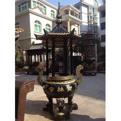 铜香炉_寺院铜香炉生产厂家_鑫鹏铜雕(优质商家)图片