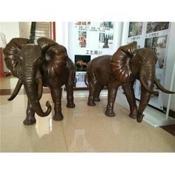 铜大象摆件-铜大象-鑫鹏铜雕(查看)图片