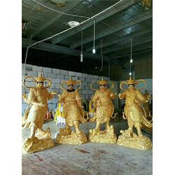 2米四大天王铜雕像-鑫鹏铜佛像厂家-四大天王铜雕像图片