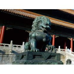 青铜狮子、铜狮子、鑫鹏铜狮子生产厂家图片