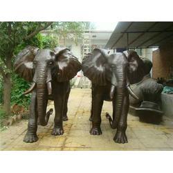 大型铜大象铸造-铜大象-鑫鹏铜大象铸造图片