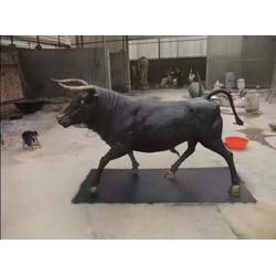 5米铜牛定制-南京铜牛-鑫鹏铜雕(查看)批发