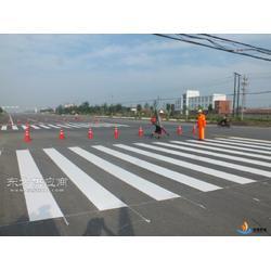 新会大泽交通道路划线、热熔标线工程设计实施图片