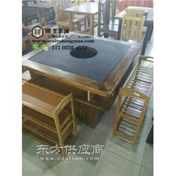 蒸汽海鲜火锅桌 海底捞火锅桌 火锅桌图片