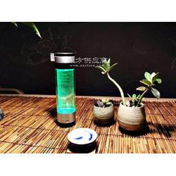单层钢化玻璃富氢水杯图片