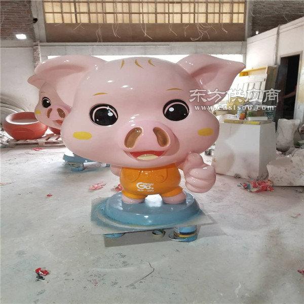 佛山吉祥物猪雕塑-春节吉祥物猪雕塑-名图雕塑厂家(优质商家)图片