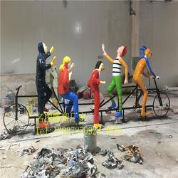 广东玻璃钢人物,名图雕塑厂家,玻璃钢人物单车人图片