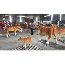 玻璃鋼動物鹿雕塑-桂林玻璃鋼動物-名圖雕塑廠家圖片