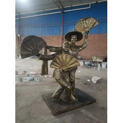 名图雕塑厂家 丰收仿铜人物雕塑-潮州仿铜人物雕塑图片