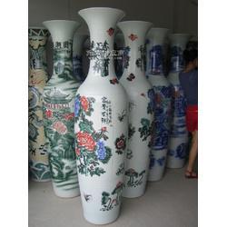 陶瓷大花瓶 手绘青花落地大花瓶现代工艺品酒店开业摆设花瓶定制图片
