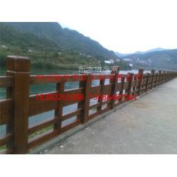 驰升批量供应景区仿木栏杆 水泥仿木仿树皮栏杆图片